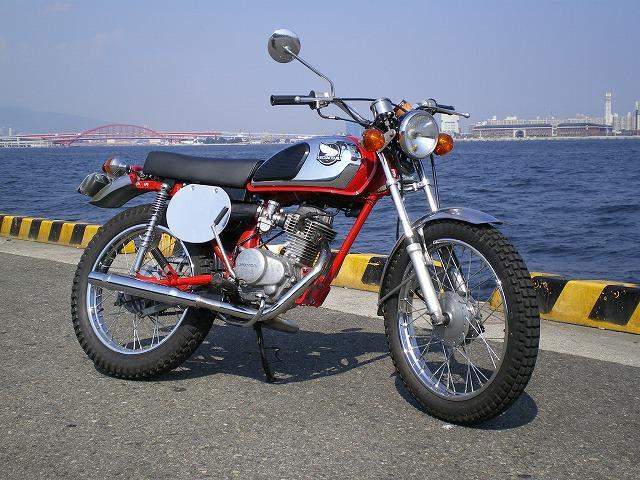古いホンダのバイク CB125JXをフルカスタム
