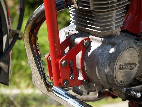 CB125JXにCB50エンジンを積むためにエンジンマウントを作成