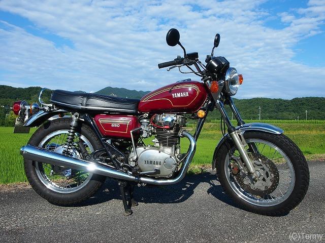 ヤマハの古いバイク 1977年式TX650 整備記録