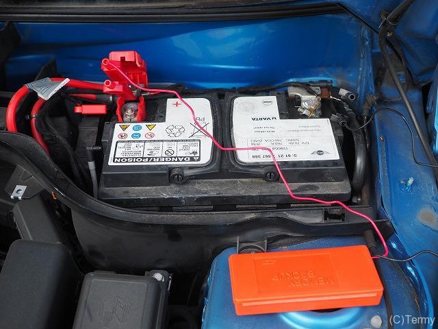 バッテリー交換時に使用するメモリーバックアップ