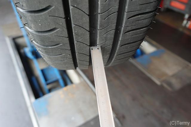 ミニクーパーS タイヤの溝のチェック