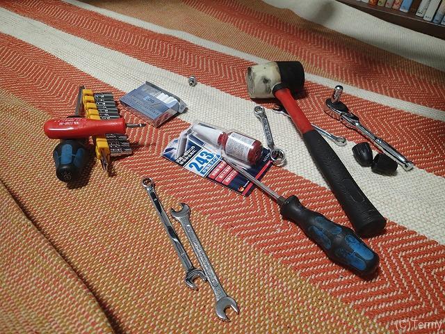 オルディナS5Bの作業用工具