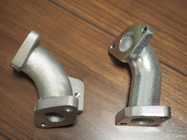 JUN製とキタコ製マニホールドを比較