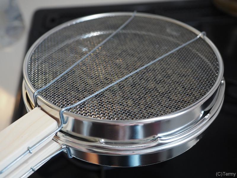 コーヒー豆の豆煎器