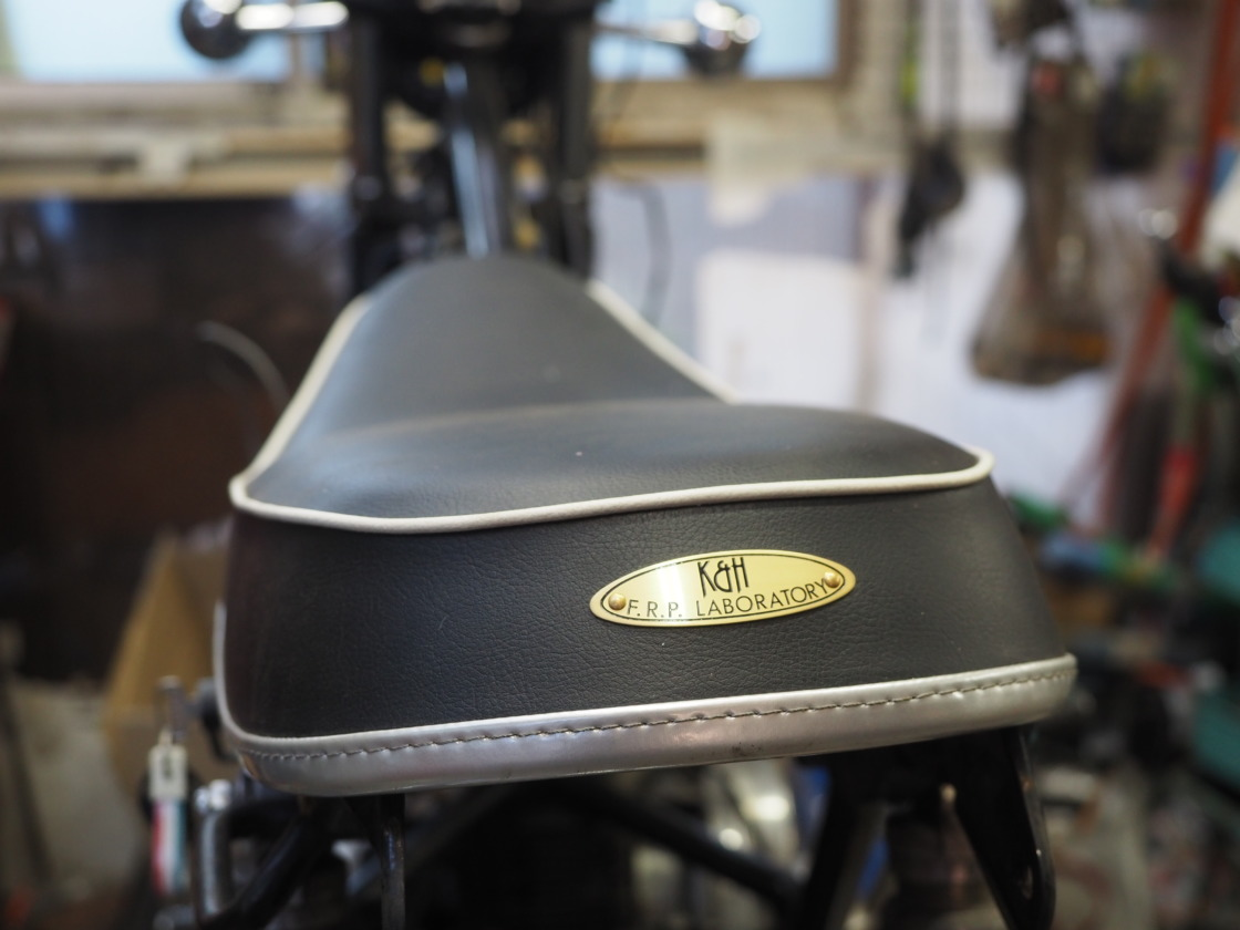 TX650(XS650)にK&HのSR400用シートを取り付け